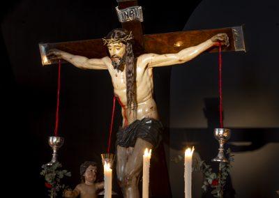 Cristo de la Sangre en su Capilla en la Semana Santa de 2021